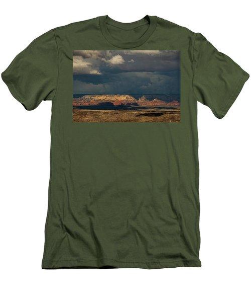 Secret Mountain Wilderness Storm Men's T-Shirt (Athletic Fit)