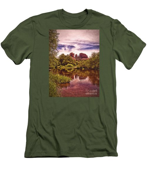 Men's T-Shirt (Slim Fit) featuring the photograph Sedona, Arizona  by Chuck Caramella