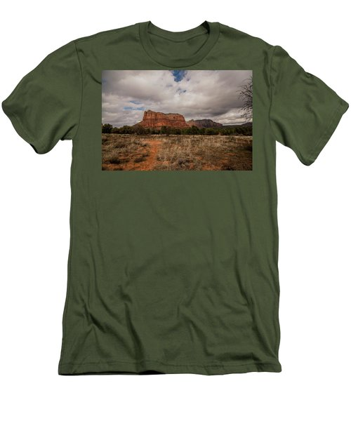 Men's T-Shirt (Slim Fit) featuring the photograph Sedona National Park Arizona Red Rock 2 by David Haskett