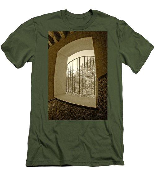 Men's T-Shirt (Slim Fit) featuring the photograph Sedona Series - Through The Window by Ben and Raisa Gertsberg