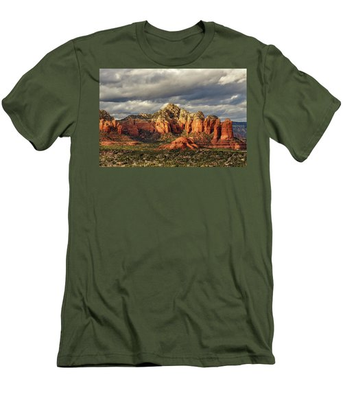 Men's T-Shirt (Slim Fit) featuring the photograph Sedona Skyline by James Eddy