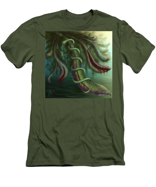 Seed Constrictor Men's T-Shirt (Slim Fit) by Rosa Cobos