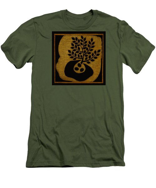 Men's T-Shirt (Slim Fit) featuring the mixed media Seeds Of Life by Gloria Rothrock