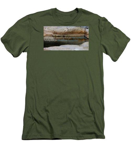 Men's T-Shirt (Slim Fit) featuring the photograph Seek Deeper by David Norman