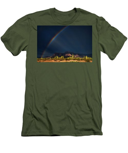 Men's T-Shirt (Athletic Fit) featuring the photograph Seeking That Pot Of Gold  by Saija Lehtonen