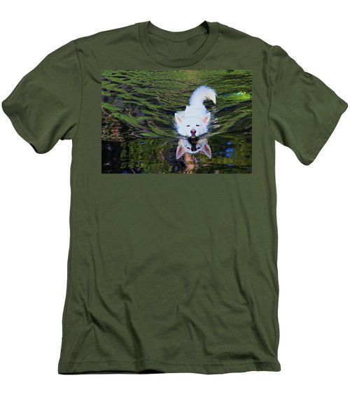 Men's T-Shirt (Athletic Fit) featuring the photograph Sekani Swimming by Sean Sarsfield