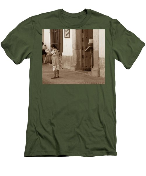 Men's T-Shirt (Slim Fit) featuring the photograph Senora by Mary-Lee Sanders