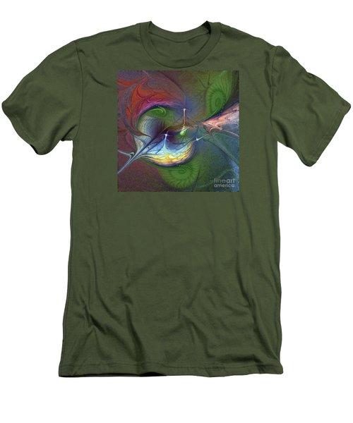 Men's T-Shirt (Slim Fit) featuring the digital art Sentimental Journey by Karin Kuhlmann