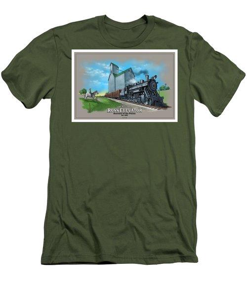 The Ross Elevator Sentinel Of The Plains Men's T-Shirt (Slim Fit) by Scott Ross