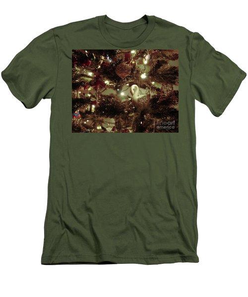 Sepia Christmas Tree Men's T-Shirt (Athletic Fit)