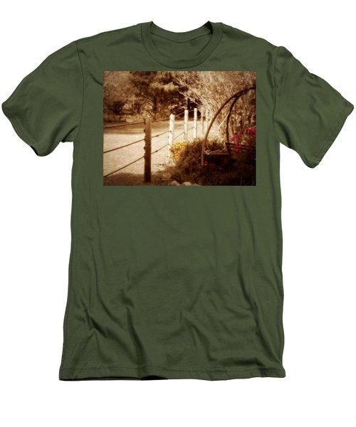 Sepia Garden Men's T-Shirt (Slim Fit) by Julie Hamilton