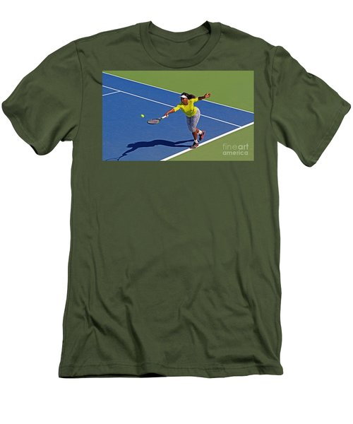 Serena Williams 1 Men's T-Shirt (Athletic Fit)