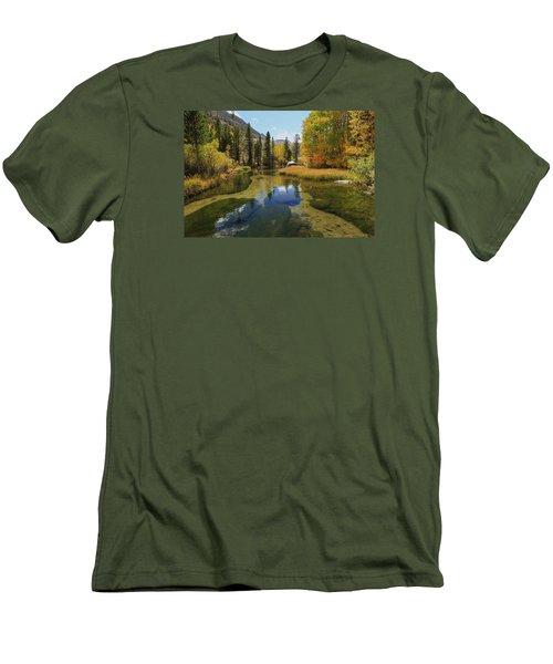Serene Stream Men's T-Shirt (Slim Fit) by Sean Sarsfield