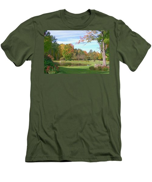 Men's T-Shirt (Slim Fit) featuring the digital art Serenity by Barbara S Nickerson