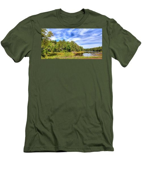 Men's T-Shirt (Slim Fit) featuring the photograph Serenity On Bald Mountain Pond by David Patterson