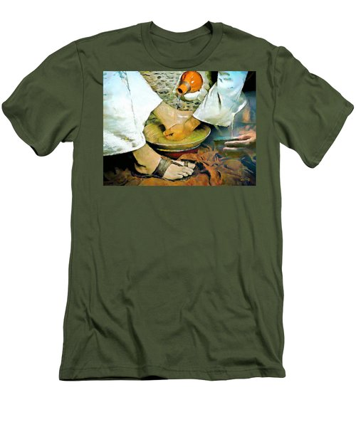 Serving One Another Men's T-Shirt (Slim Fit) by Wayne Pascall