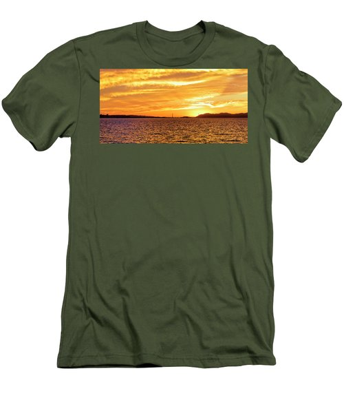 Sf Bay Area Sunset Men's T-Shirt (Athletic Fit)