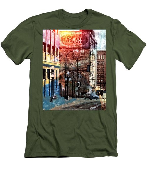 Shadow On St. Paul Men's T-Shirt (Slim Fit) by Susan Stone