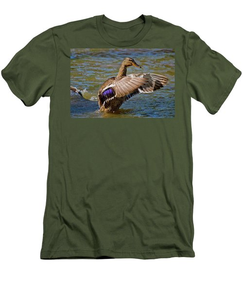 Men's T-Shirt (Slim Fit) featuring the photograph Shake It Off by Linda Unger