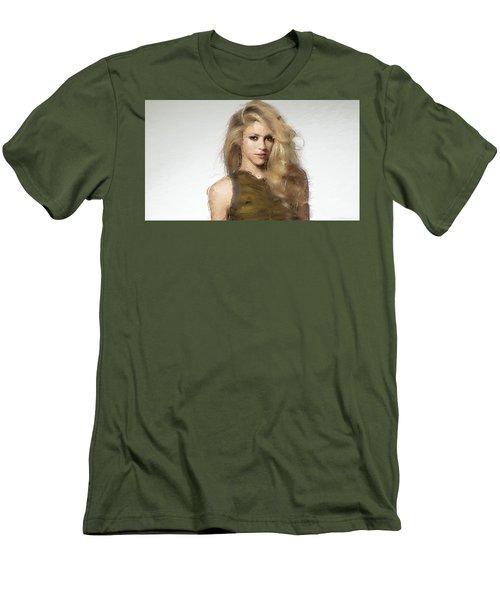 Shakira Men's T-Shirt (Slim Fit) by Iguanna Espinosa