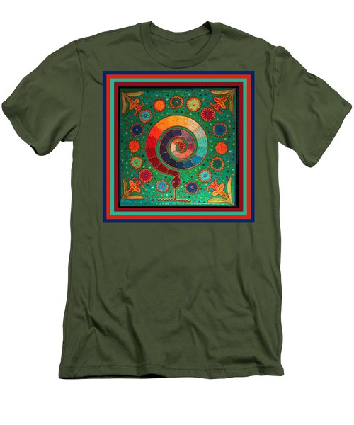 Shaman Serpent Ritual Men's T-Shirt (Slim Fit) by Vagabond Folk Art - Virginia Vivier