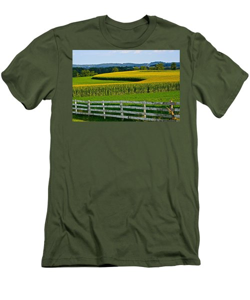 Shapely Cornfield 1 Men's T-Shirt (Athletic Fit)