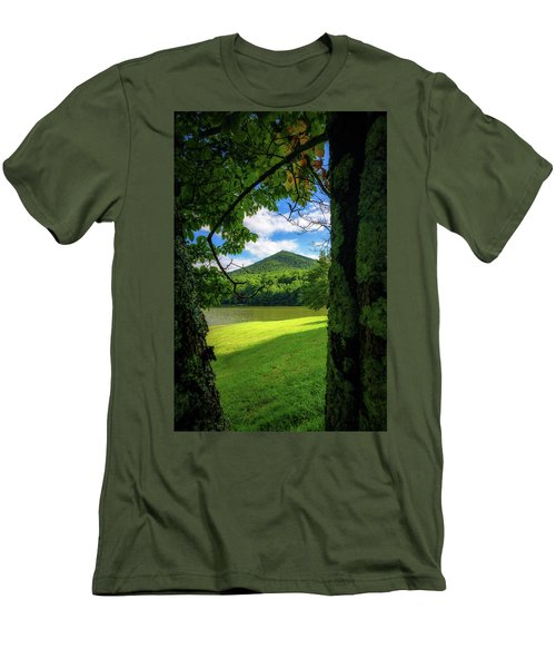 Sharp Top Through The Trees Men's T-Shirt (Athletic Fit)