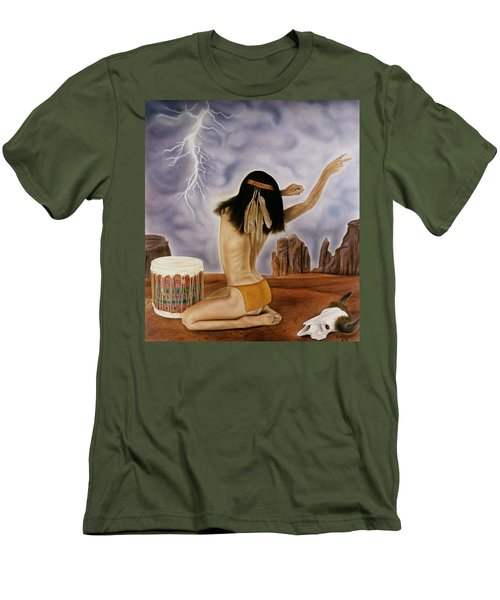 She Called The Rain Men's T-Shirt (Athletic Fit)