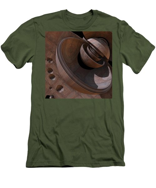 Men's T-Shirt (Slim Fit) featuring the digital art Shell Game by Lyle Hatch