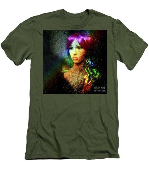 She's Like A Rainbow Men's T-Shirt (Slim Fit) by LemonArt Photography