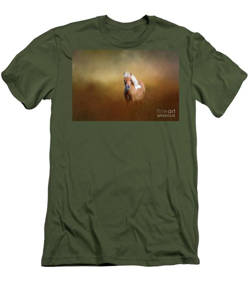 Shetland Pony Men's T-Shirt (Slim Fit) by Marion Johnson