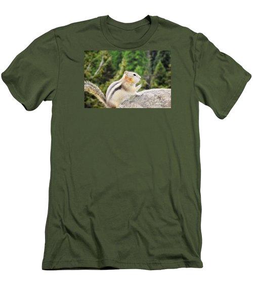 Men's T-Shirt (Slim Fit) featuring the photograph Shhhh Quiet Please by Janie Johnson