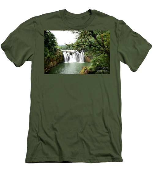 Shifen Waterfall  Men's T-Shirt (Athletic Fit)