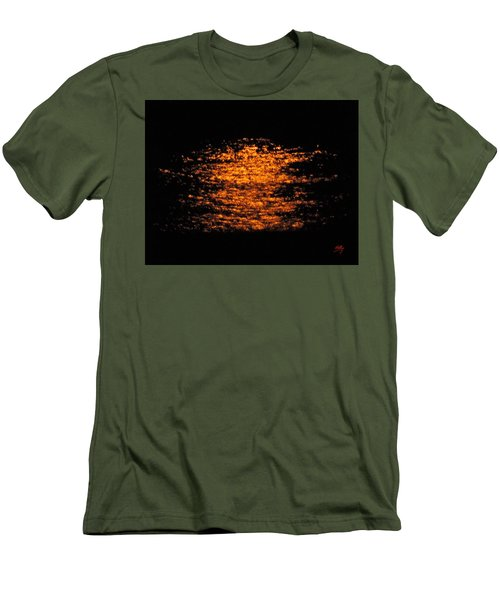 Men's T-Shirt (Slim Fit) featuring the photograph Shimmer by Linda Hollis