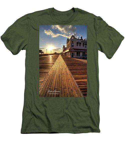 Shining Walkway Men's T-Shirt (Slim Fit) by John Loreaux