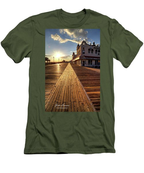 Shining Walkway Men's T-Shirt (Athletic Fit)