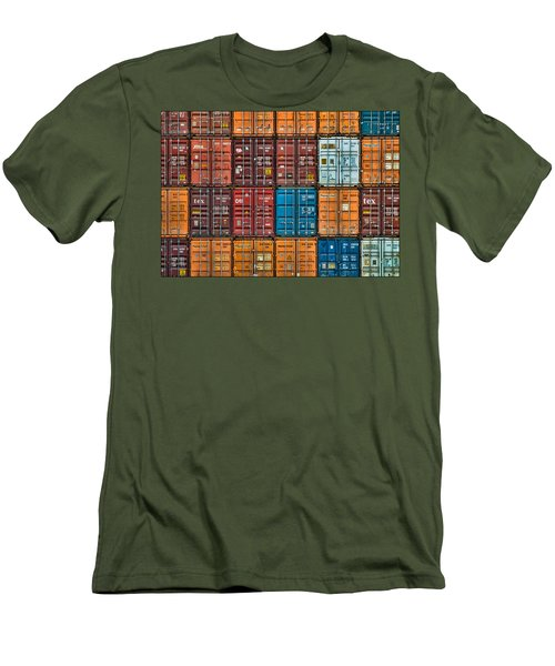 Shipping Containers Men's T-Shirt (Slim Fit)