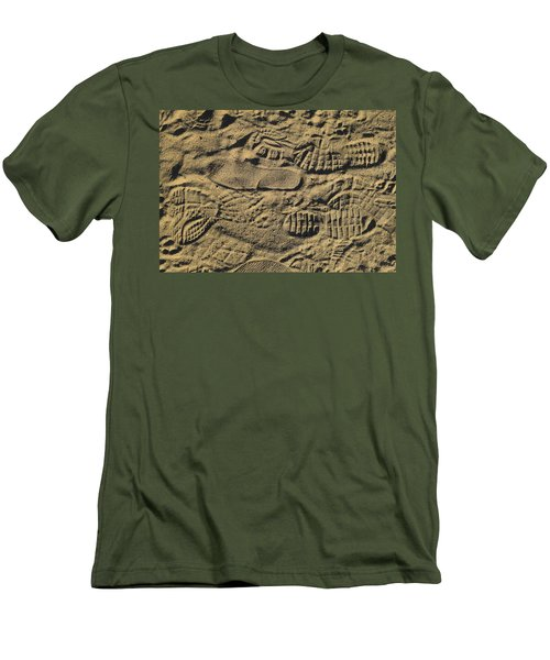 Shoe Prints Men's T-Shirt (Athletic Fit)