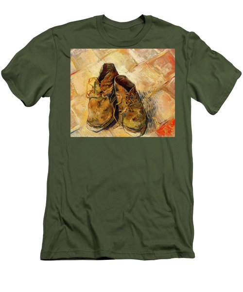 Men's T-Shirt (Slim Fit) featuring the painting Shoes                                   by Vincent van Gogh