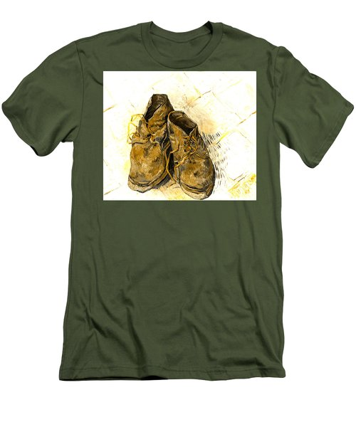 Men's T-Shirt (Slim Fit) featuring the photograph Shoes by John Stephens
