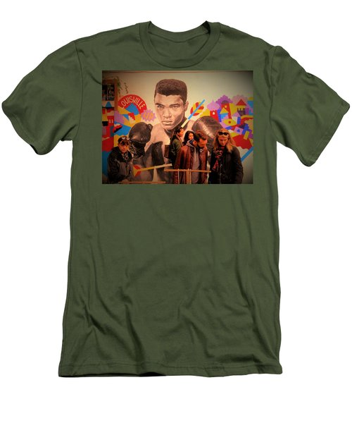 Shopping In Brooklyn With Mohamed Ali Men's T-Shirt (Athletic Fit)