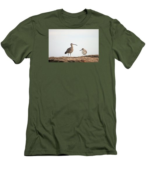 Men's T-Shirt (Slim Fit) featuring the photograph Shorebirds Of Windansea Beach by Bruce Patrick Smith