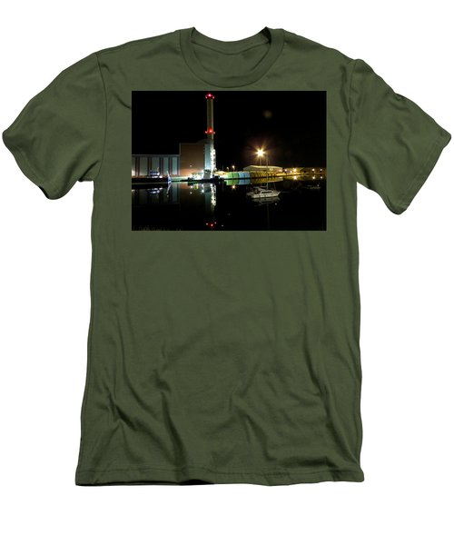 Shoreham Power Station Night Reflection 2 Men's T-Shirt (Athletic Fit)