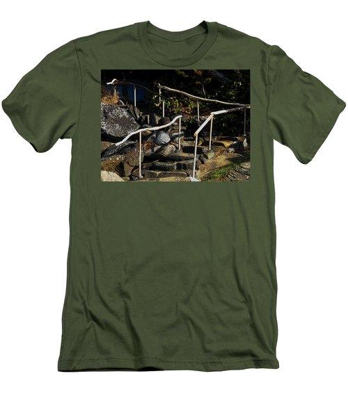 Shoreline Steps  Men's T-Shirt (Slim Fit) by Anne Havard