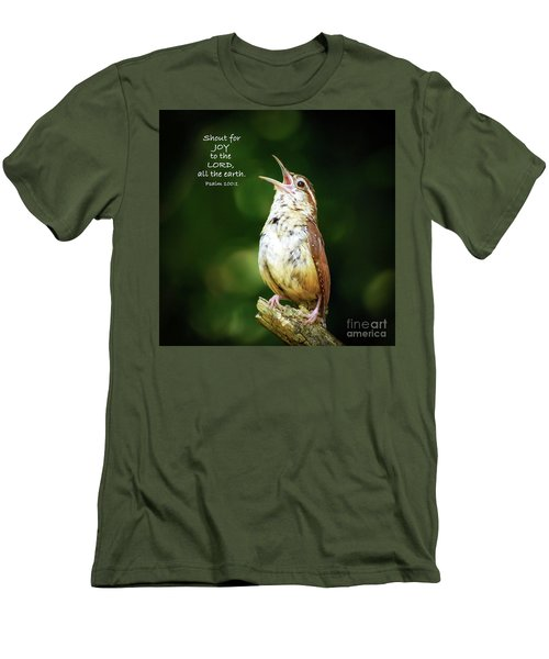 Men's T-Shirt (Athletic Fit) featuring the photograph Shout For Joy by Kerri Farley
