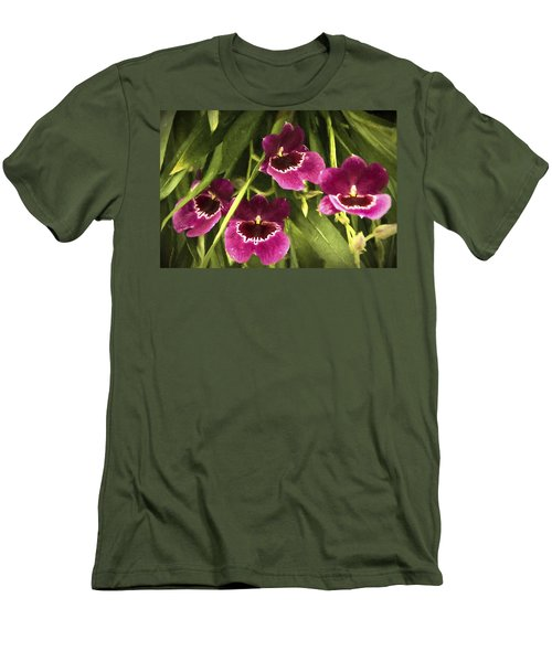 Shy, Confident, Tentative And Awkward Orchids Men's T-Shirt (Slim Fit) by Penny Lisowski