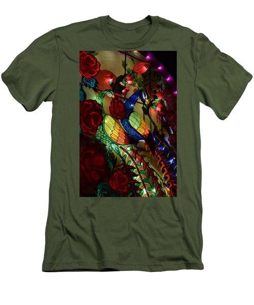 Silk Peacocks Men's T-Shirt (Athletic Fit)