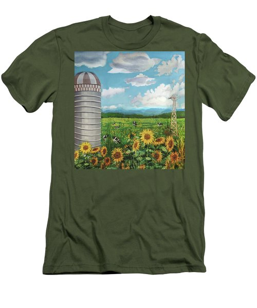 Silo Farm Men's T-Shirt (Athletic Fit)