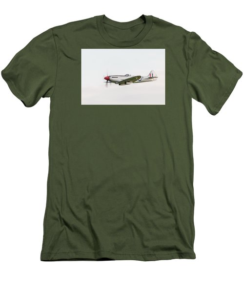 Silver Spitfire Fr Xviiie Men's T-Shirt (Slim Fit) by Gary Eason