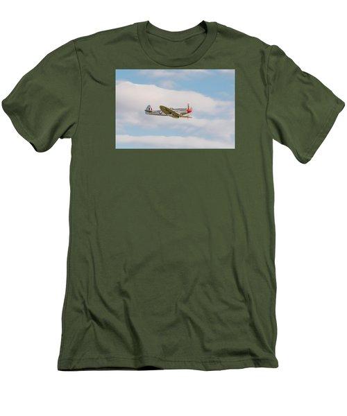 Silver Spitfire Men's T-Shirt (Slim Fit) by Gary Eason